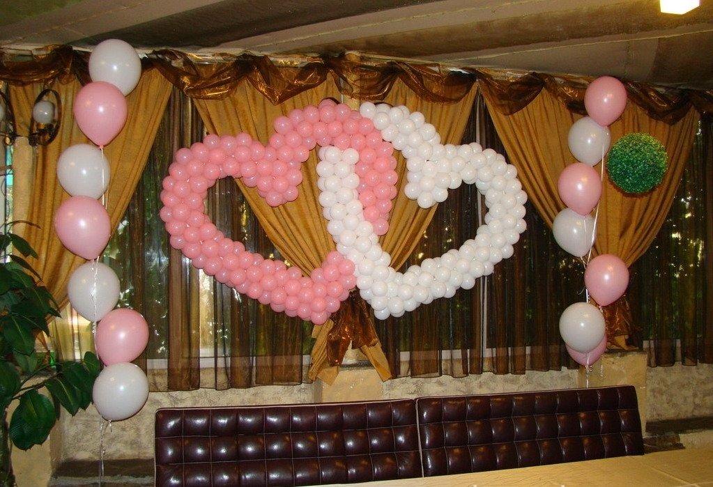 Украшение из шаров своими руками на свадьбу 5